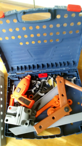 Boy toolset pretend kit builder case toy construction