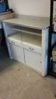 old kichen cabinet with abourite top