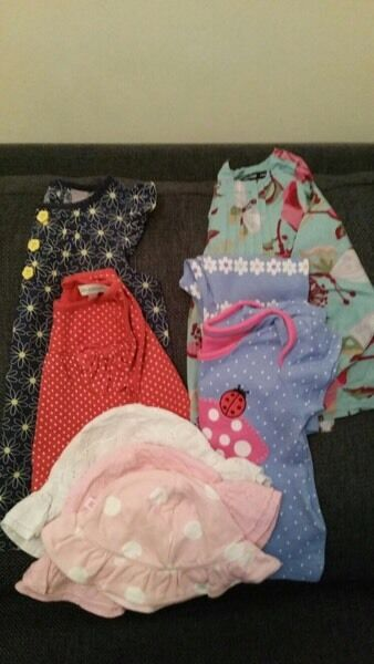 Girls 6-9 months clothes hundle