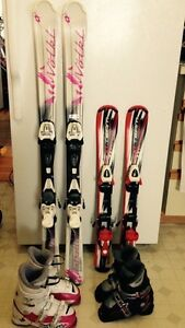 CHILDREN 'S SKIS and BOOTS
