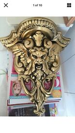 Gold Colour Sconce Shelf