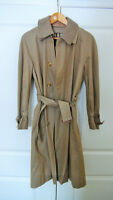 Burberry Mens Trench Coat Size M with Wool Lining