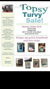 Craft sale, upcycled furniture and home decor, baking