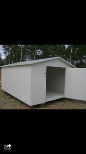 10'x15' metal insulated shed