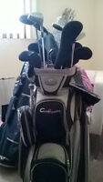 bag and golf clubs