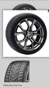 Winter package (tires on wheels) for 2016 Toyota Highlander.