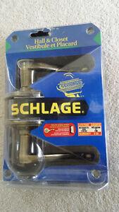 Schlage Hall & Closet Lever set [RH] [New]