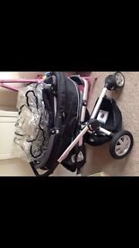 Quinny pram top and pushchair