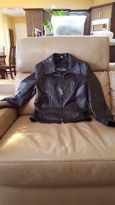 Chocolate Brown Short Leather Jacket