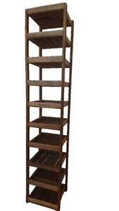 Teak shelf 10 tier Multi-Purpose Stand Shelf Home Storage Bankstown Bankstown Area Preview