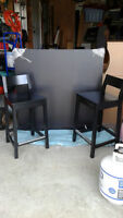Ikea Table and chair set-bar height