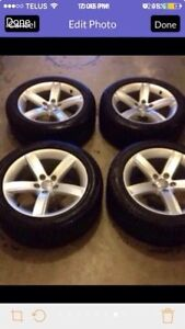 Audi winter tires and rims