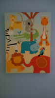 Decoration for child's room with animal theme