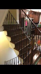 Carpet stairs to hardwood stairs -416-457-4624 Cambridge Kitchener Area image 8