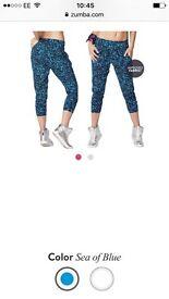Blue new Zumba trousers size M