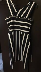 Stripe Black and White tight Dress