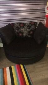 Cuddle large swivel chair and large sofa open to offeres