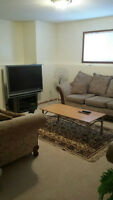 2B/R Furnished BSMT available Immediately month to month call