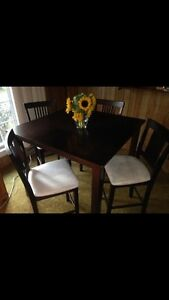 Newer dining set with chairs