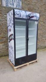 Double door carling display fridge