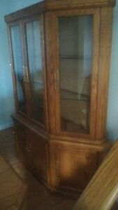 Glass china cabinet, 6 chairs + 10 ft table!  Cambridge Kitchener Area image 3
