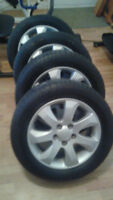 4 Michelin all SeasonTires 205/60 R16 With MAG 5x114 boldpattern