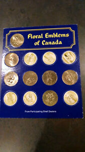 Shell Coats Of Arms/Floral Emblems of Canada Coin Set Kitchener / Waterloo Kitchener Area image 2
