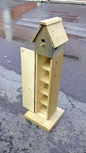 L@@K ---> CD Tower Bird House! Very Cool Custom Made Item!!