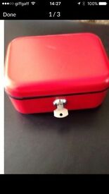 Helix Metal Lockable Money box