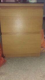 Oak Drawers or Bedside Table