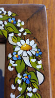8x10 Custom Wood Picture Frame Mirror Matte hand-painted flowers