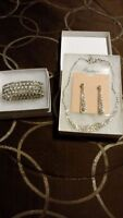 Crystal Silver Jewelry- Only worn once on Wedding day