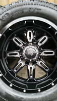 4 GEAR RIMS WITH NEW PROCOMP EXTREME TIRES LT305/55/20