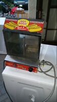 Hot Dog warmer (steam) and bun warmer works great and with plumb