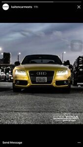 2010 Audi A5 (S5 clone) wrapped in gold