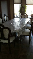 China cabinet and table with 6 chairs
