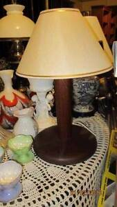 Vintage Timber Lamp Base's and Shades X2 (Timber Hand Turned) Toowoomba Toowoomba City Preview