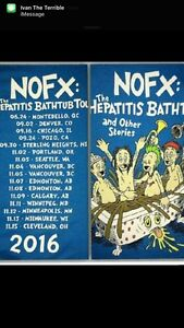 NOFX tickets, trade my 2 for Tuesday show for Monday
