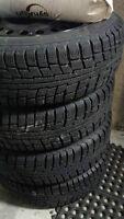 4 pneus d'hiver Marangoni 4Ice 175/65r14 - 4 jantes acier 4x100