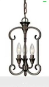 3 Light Antique Bronze Pendant