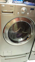 LG front loading washer dryer high end models. like new!