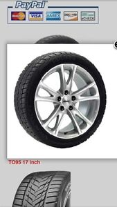 Winter package (tires on wheels) for 2016 Toyota Venza.