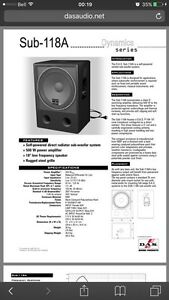 DAS subwoofer for live sound or DJ