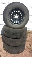 Michelin X-Ice Latitude 245/70 R17 with rims