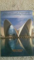 Statics and Strength of Materials for Architecture and Building