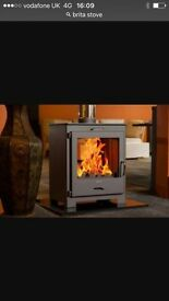 Modern double side multi fuel stove for living room or kitchen shed office garage double sided