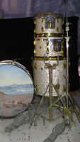 Drums for Sale Ludwig  - White Marine Pearl - 4 pc set - mid 60'