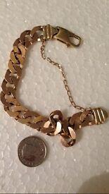 Mens 9ct gold bracelet weighs 31g
