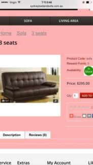 Brand new sofa bed for sell 70% off $99