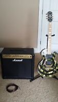 Zakk wylde Custom camo Epiphone with Marshall G50R CD Amp